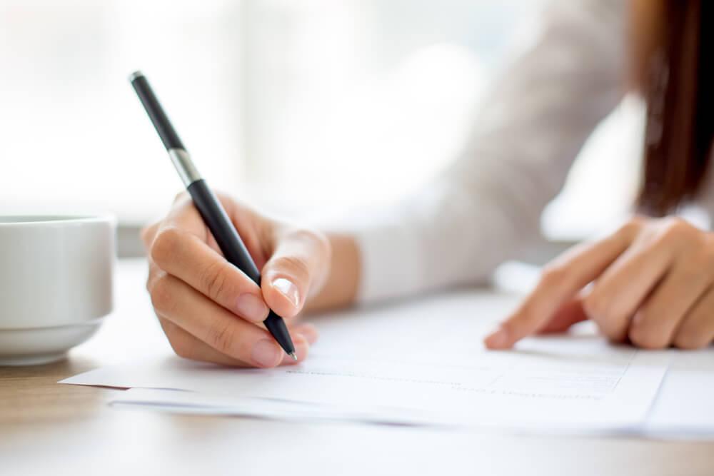 Unterschrift Beratung Vertrag